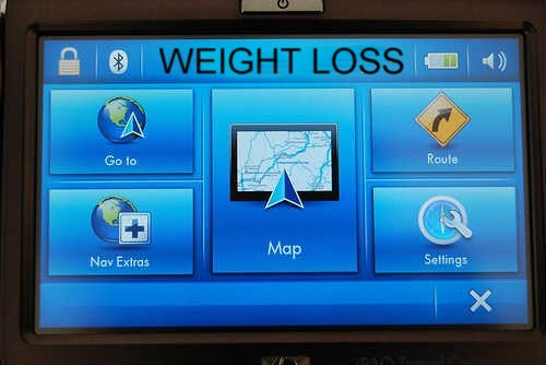 gps map with text weight loss